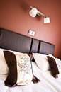 Hotel bed and bedding Royalty Free Stock Photo