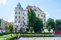 Hotel bristol chernivtsi ukraine june the view on the former from the philharmonic square where tourists and locals like to feed Royalty Free Stock Photos