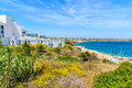 Hotel building in bay of Sagres town Royalty Free Stock Photo