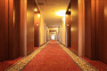 Hotel corridor with carpet in a Stock Photos