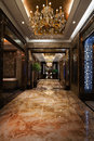 The hotel corridor luxurious decoration display high end Stock Photos