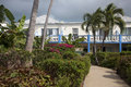 Hotel Courtyard, Providenciales, Turks & Caicos Stock Photos