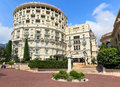 Hotel de paris exterior view in monte carlo monaco july of luxury a star opened contains rooms with exclusive city and sea Royalty Free Stock Photo