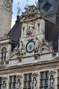 Hotel de Ville Clock Royalty Free Stock Images