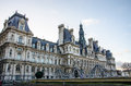 Hotel de ville france is located in paris in Royalty Free Stock Photo