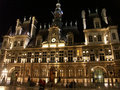 Hotel de Ville at night Royalty Free Stock Photos