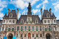 Hotel de Ville, Paris, France. Stock Images