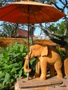 Hotel decor in the form of a sculpted elephant here in hua hin thailand Royalty Free Stock Photography