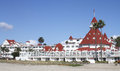 Hotel del coronado world known in california usa view from the beach Royalty Free Stock Image