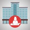 Hotel design. travel icon. and flat illustration