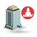 Hotel design. travel icon. Isolated and flat illustration