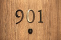 Hotel door number, close up image Royalty Free Stock Photo