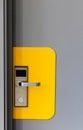 Hotel electronic lock on door Royalty Free Stock Photo