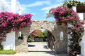 Hotel Entrance at Paros Greece Royalty Free Stock Photo