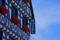 Hotel facade on the middle rhine in germany Royalty Free Stock Image
