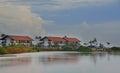 Hotel facing lagoon in chilaw sri lanka Stock Images