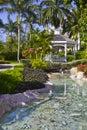 Hotel garden Royalty Free Stock Photo