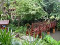 Hotel gardens nicely landscaped grounds here in western thailand Royalty Free Stock Image
