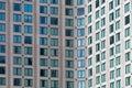 Hotel high rise building windows closeup facade of many in melbourne cbd Stock Photo