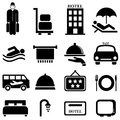 Hotel and hospitality icons Royalty Free Stock Images