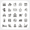 Hotel and hotel services icons set eps don t use transparency Stock Image