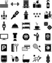 Hotel icons Stock Photography