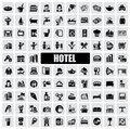 Hotel icons Royalty Free Stock Photo