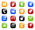 Hotel icons - color series Royalty Free Stock Photo