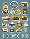 Hotel icons editable vector set Royalty Free Stock Photography