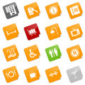 Hotel icons II - sticky series Royalty Free Stock Photo