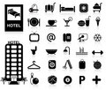 Hotel Icons set Royalty Free Stock Photography