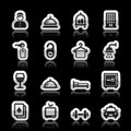 Hotel icons set vector illustration Stock Photography
