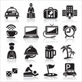 Hotel icons set vector illustration Stock Photo