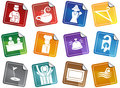 Hotel Icons - Sticker Set Stock Images