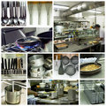 Royalty Free Stock Photos Hotel kitchen collage