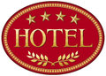 Hotel label design Stock Images