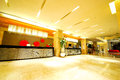 Hotel lobby interior design of a taken in september Royalty Free Stock Photography
