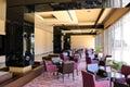 Hotel lobby lounge area Royalty Free Stock Photo
