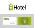 Hotel logotype for many purposes all vector and ready for print and web Stock Photography