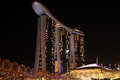 Hotel marina bay sands singapore landmark photographed in november Royalty Free Stock Photography