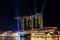 Hotel marina bay sands singapore landmark photographed in november Royalty Free Stock Images