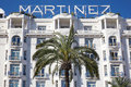 Hotel martinez facade in cannes luxury france Royalty Free Stock Photos