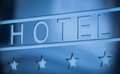 Hotel metallic sign four stars Royalty Free Stock Image