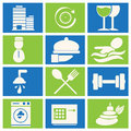 Hotel miscellaneous icons and vector illustration Stock Image