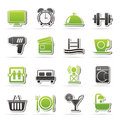 Hotel and motel facilities icons vector icon set Stock Photography