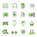 Hotel and motel icons vector icon set Royalty Free Stock Photos