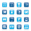 Hotel and motel icons vector icon set Royalty Free Stock Photography