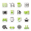 Hotel and motel icons vector icon set Stock Images