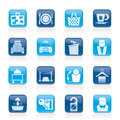 Hotel and motel services icons Stock Photo