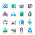 Hotel and motel services icons Royalty Free Stock Image